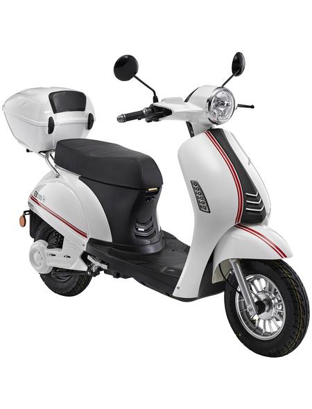 LuXXon E-Scooter »E3000«, max. 25 km/h, Reichweite: 65 km, weiß