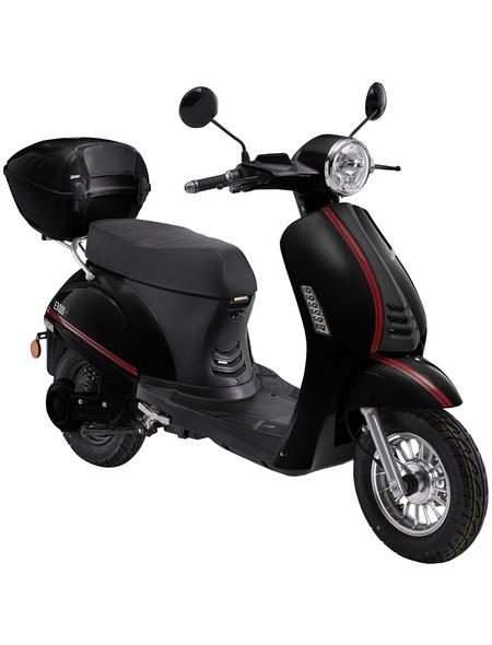 LuXXon E-Scooter »E3000«, max. 45 km/h, Reichweite: 55 km, schwarz
