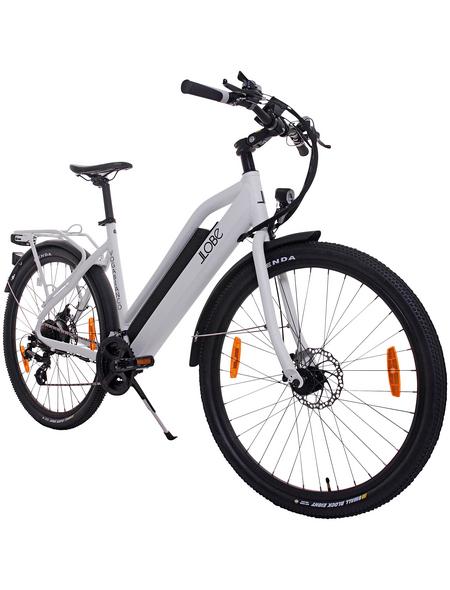 "LLOBE E-Trekkingbike »E-Urban Voga Bianco«, 27,5"", 21-Gang, 10.4 Ah"