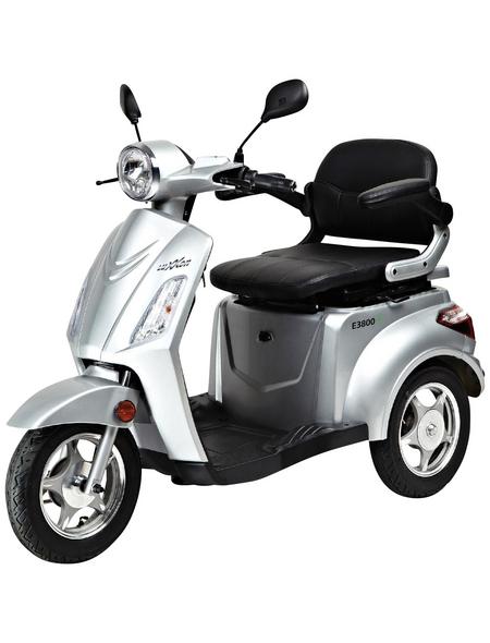 LuXXon E-Trike »E3800«, max. 20 km/h, Reichweite: 60 km, silberfarben