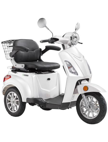 LuXXon E-Trike »E3800«, max. 20 km/h, Reichweite: 60 km, weiß