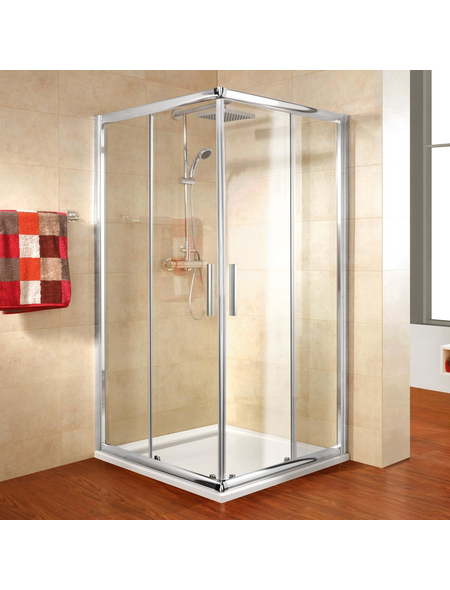SCHULTE Eckdusche »Kristall/Trend«, BxTxH: 80x80x185 cm