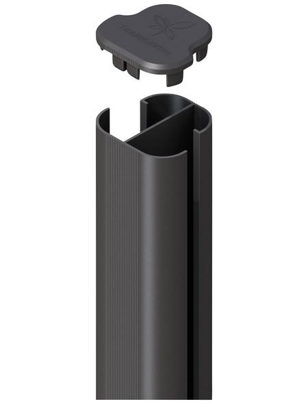 TraumGarten Eckpfosten »System «, Metall, BxLxT: 7,2 x 150 x 6,6 cm