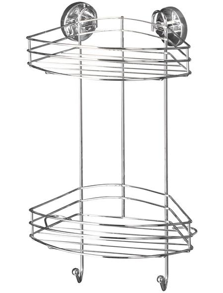 WENKO Eckregal, BxH: 23 x 43 cm, Stahl