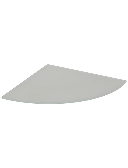 Duraline Eckregal »CSR«, BxT: 25 x 25 cm, Sicherheitsglas, transparent