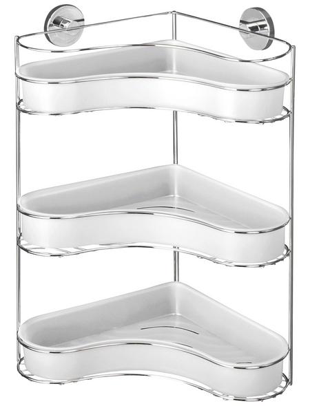 WENKO Eckregal »Milazzo«, BxH: 35 x 47,5 cm, Stahl/Kunststoff