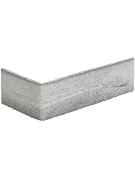 ELASTOLITH Eckverblender »Nebraska«, 24 Stk., HxTxB: 7,1 x 0,4 x 24 cm, grau / bunt