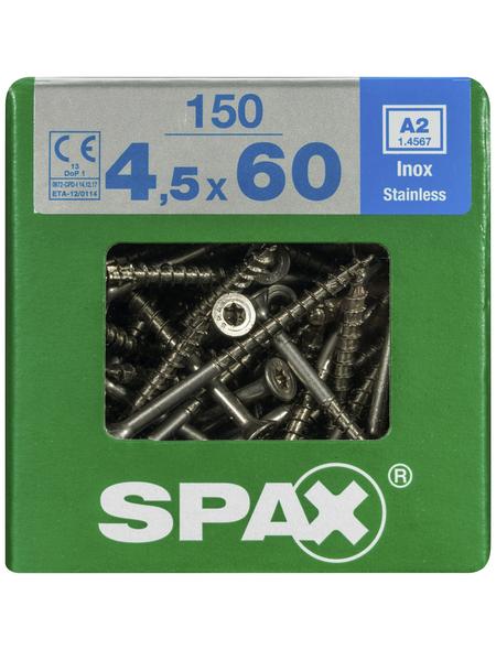 SPAX Edelstahlschraube, T-STAR plus, 150 Stk., 4,5 x 60 mm