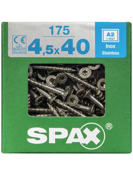 SPAX Edelstahlschraube, T-STAR plus, 175 Stk., 4,5 x 40 mm