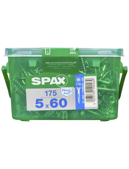 SPAX Edelstahlschraube, T-STAR plus, T20, Edelstahl, 175 Stück, 5 x 60 mm