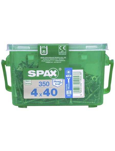 SPAX Edelstahlschraube, T-STAR plus, T20, Edelstahl, 350 Stück, 4 x 40 mm