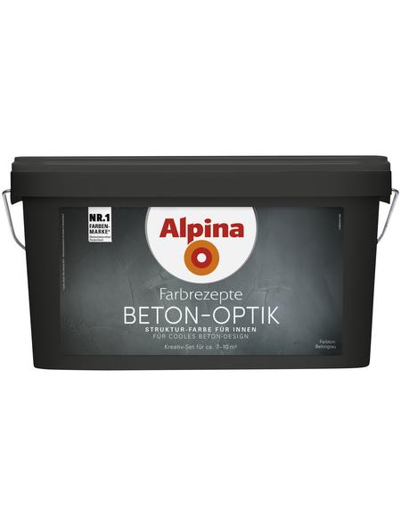 ALPINA Effektfarbe »Farbrezepte«, Betongrau, matt