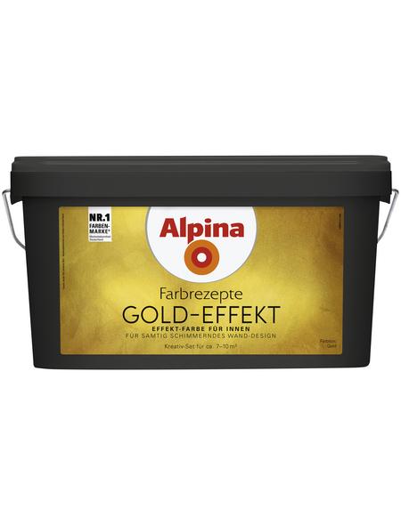 ALPINA Effektfarbe »Farbrezepte«, , goldfarben, 4,1 l