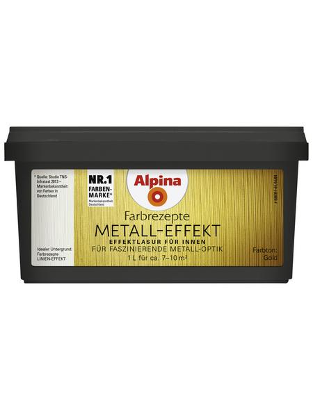 ALPINA Effektfarbe »Farbrezepte« in Metall-Optik, goldfarben, 1 l