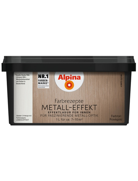 ALPINA Effektfarbe »Farbrezepte«, roségoldfarben, 1l