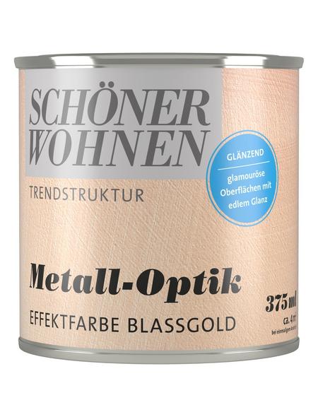 SCHÖNER WOHNEN FARBE Effektfarbe »Trendstruktur«, in Metall-Optik, blassgold, 0,375 l