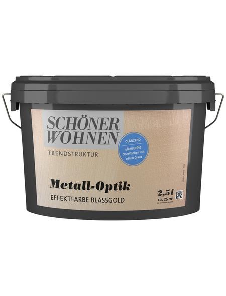 SCHÖNER WOHNEN FARBE Effektfarbe »Trendstruktur« in Metall-Optik, blassgold, 2,5 l