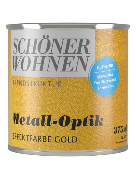 SCHÖNER WOHNEN FARBE Effektfarbe »Trendstruktur«, in Metall-Optik, goldfarben, 0,375 l
