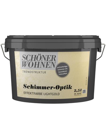 SCHÖNER WOHNEN FARBE Effektfarbe »Trendstruktur«, in Schimmer-Optik, lichtgold, 2,5 l