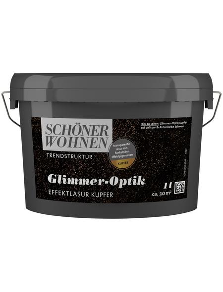 SCHÖNER WOHNEN FARBE Effektlasur »Trendstruktur«, in Glimmer-Optik, kupferfarben, 1 l