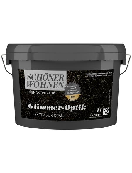SCHÖNER WOHNEN FARBE Effektlasur »Trendstruktur«, in Glimmer-Optik, opalfarben, 1 l