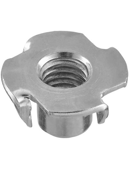 CONNEX Einschlagmuttern, M10 x 13 mm, Silber, Stahl