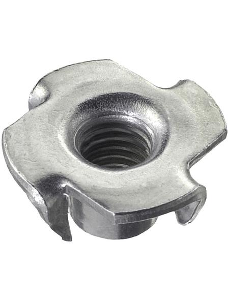 CONNEX Einschlagmuttern, M4 x 6 mm, Silber, Stahl