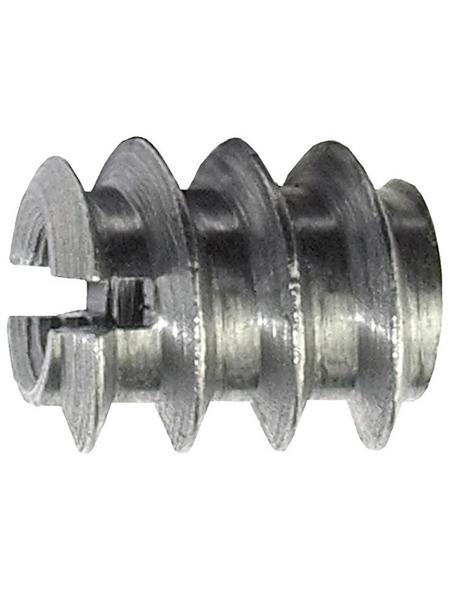 CONNEX Einschraubmutter, M6, Silber, Stahl