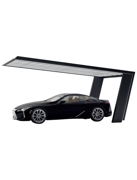 XIMAX Einzelcarport »MyPort 7«, Außenmaß BxT: 319 x 511,9 cm, schwarz|silberfarben