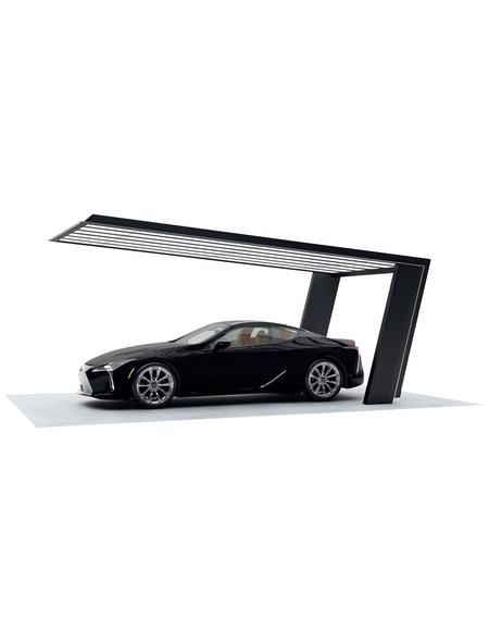 XIMAX Einzelcarport »MyPort 7«, Außenmaß BxT: 319 x 587,3 cm, silberfarben|schwarz