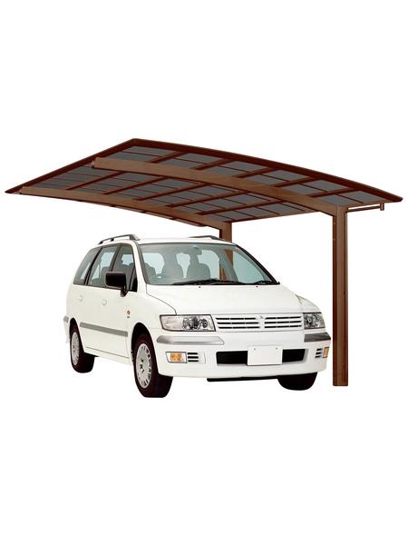 XIMAX Einzelcarport »Portoforte«, B x T x H: 270,4 x 495,4 x 298 cm, braun