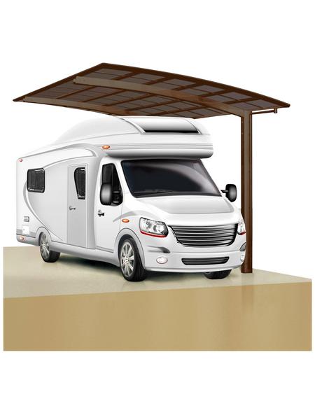 XIMAX Einzelcarport »Portoforte Caravan«, B x T x H: 270,4 x 495,4 x 348 cm, braun
