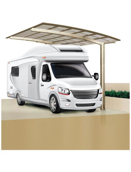 XIMAX Einzelcarport »Portoforte Caravan«, B x T x H: 270,4 x 495,4 x 348 cm, edelstahlfarben