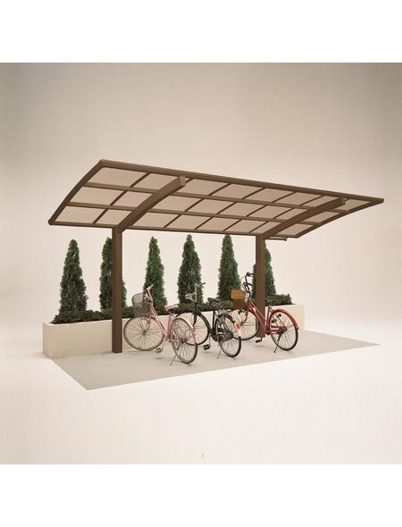 XIMAX Einzelcarport »Portoforte Mini«, Außenmaß BxT: 201 x 495,4 cm, bronzefarben