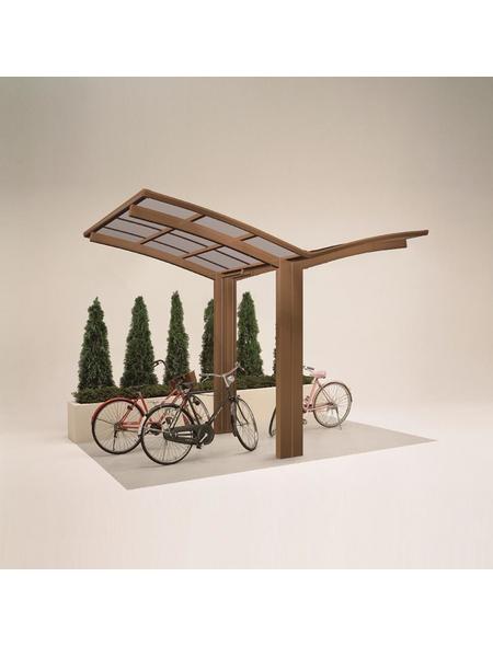 XIMAX Einzelcarport »Portoforte Mini«, Außenmaß BxT: 404 x 253,8 cm, bronzefarben