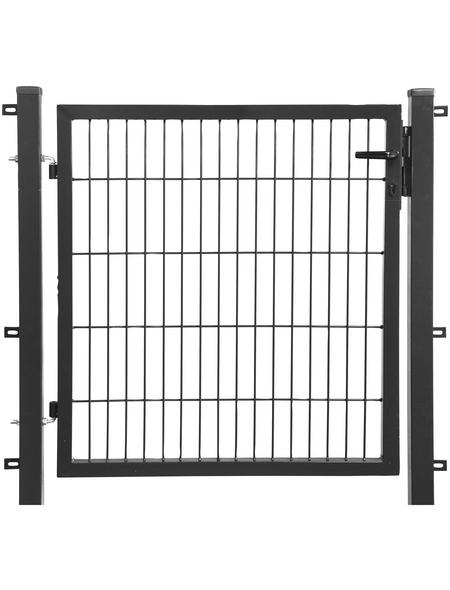 FLORAWORLD Einzeltor »comfort«, BxH: 121 x 190 cm, Stahl, anthrazit