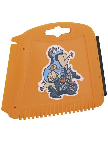 NIGRIN Eisschaber »TRAPEZ«, für Autoscheiben, in orange
