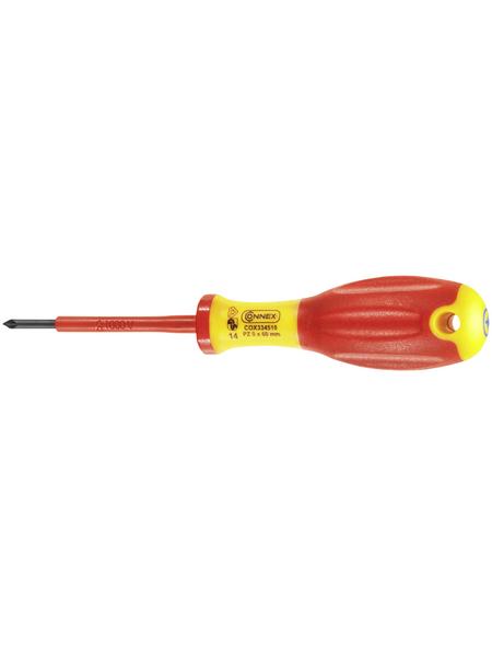 CONNEX Elektrikerschraubendreher, Klingenlänge: 60 mm, Metall, PZ