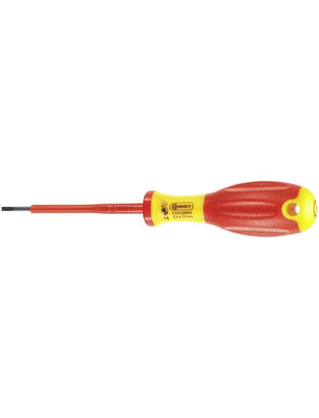 CONNEX Elektrikerschraubendreher, Klingenlänge: 75 mm, Metall, Schlitz