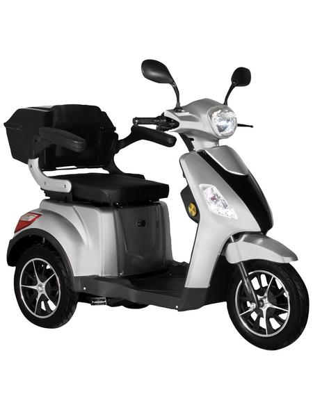 DIDI THURAU Elektromobil »Bologna«, max. 25 km/h, Reichweite: 50 km, silberfarben