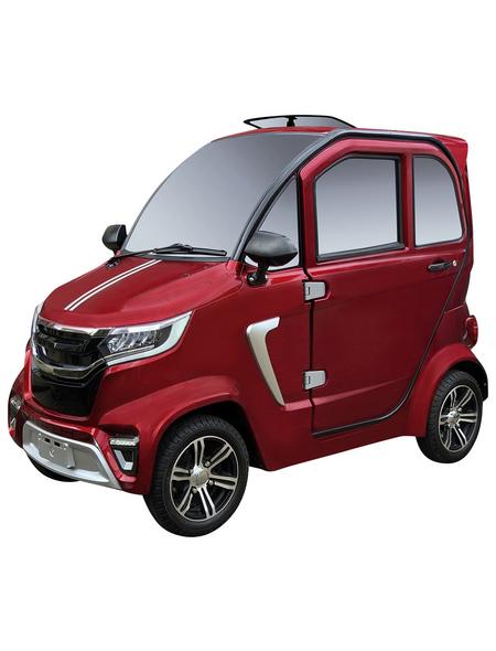 DIDI THURAU Elektromobil »eLazzy Premium«, 45 km/h (max.), rot
