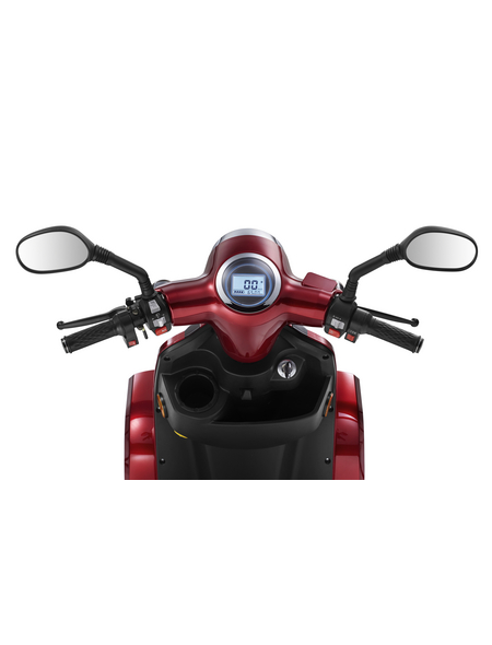 LuXXon Elektroroller »E4800«, 20 km/h (max.), weinrot