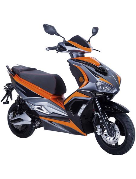 GT UNION Elektroroller »eStriker«, max. 25 km/h, Reichweite: 30 km, orange/schwarz