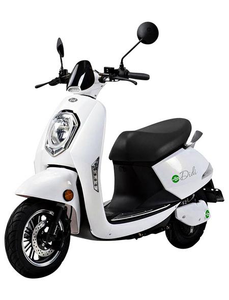 DIDI THURAU Elektroroller »Roma«, max. 45 km/h, Reichweite: 50 km, weiß/schwarz