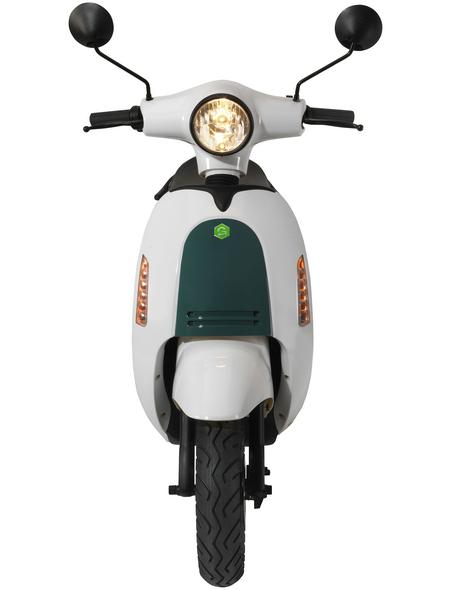 GREENSTREET Elektroroller »SEED«, 45 km/h (max.), Reichweite 80 km (eco), weiß - türkis