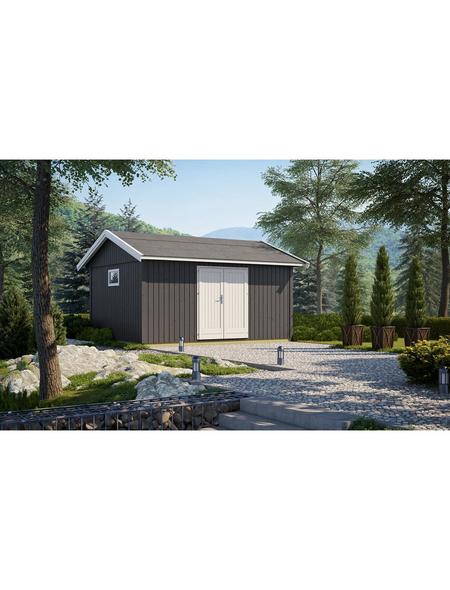 GARTENPRO Elementhaus »Nordic«, BxT: 490 x 438 cm, Spitzdach