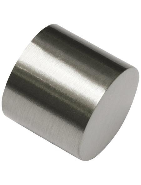 GARDINIA Endkappe, Memphis, Kappe, 16 mm, 2 Stück, Silber