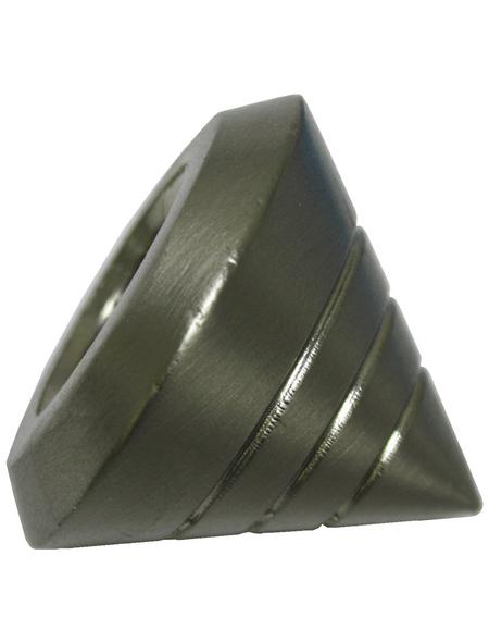 GARDINIA Endknopf, Memphis, Kegel, 16 mm, 2 Stück, Silber