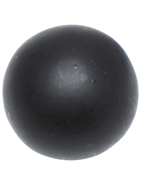 GARDINIA Endknopf, Memphis, Kugel, 16 mm, 2 Stück, Schwarz