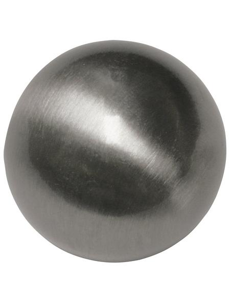 GARDINIA Endknopf, Memphis, Kugel, 16 mm, 2 Stück, Silber
